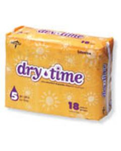 Dry Time Baby Diapers - Size 6; Over 35 lbs, 8 Bag / Case, 120 Unit / Case