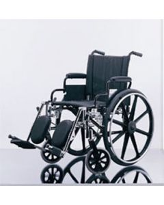 """Excel K4 Lightweight Wheelchair - 16"""" Swing-Back Desk Length Arms, Swing-Away Detachable Elevating Legrests, Quick Release Axles"""