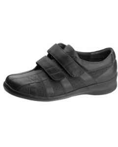 Aetrex®  Essence Women''s Suede/Leather Hook and Loop Shoe, Black, Narrow, Size 6