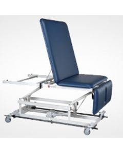 AM-BA (Bar Activated Switch) Hi-Lo Treatment Table Series (Model AM-BA 340), Bariatric, 40&#8220  Wide, Three Section Top, Non-Elevating Center Section, Upholstery Color: Black