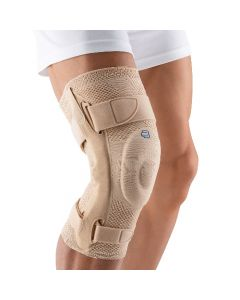 Bauerfeind GenuTrain S Knee Support, Size 5 (4 below-15 3/4- 17 , 5 above - 19 3/4 - 20 7/8) (Right), Color Nature