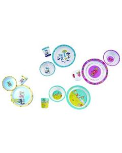 Melamine Plate, Bowl, Cup, Fork & Spoon, Color: Fairy