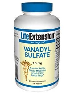 Vanadyl Sulfate, 7.5 Mg 100 Tablets