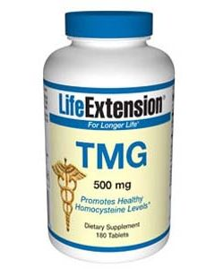 TMG - Trimethylglycine, 500 mg, 180 tablets