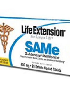 SAMe (S-Adenosyl-Methionine) 400 mg, 30 enteric coated tablets