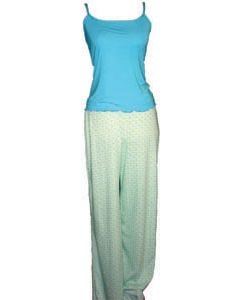 Loungewear Set: 'Jennings', Colour: Blue Long Pant Set, Size: S, Fits Dress Size 4-6, Chest Band Measurement: 34-36 in, Garment Length: 16 in